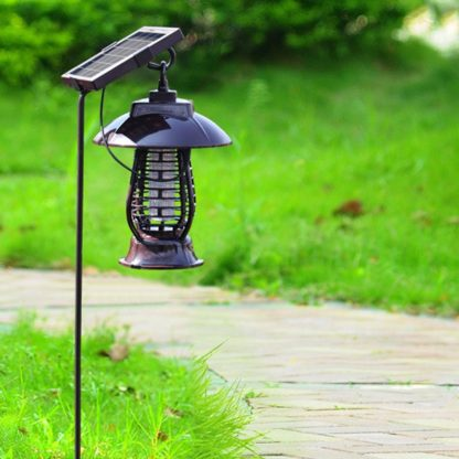 LAIDEYI Solar Powered LED Mosquito Killer Light Mosquito Repeller Lamp Insect Killing Hanging Lamp For Garden Yard Outdoor  2