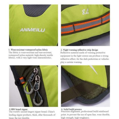 ANMEILU 2L Water Bags 5L Cycling Backpack Men Women Waterproof Outdoor Sports Bag Hydration Climbing Running Baddler 3