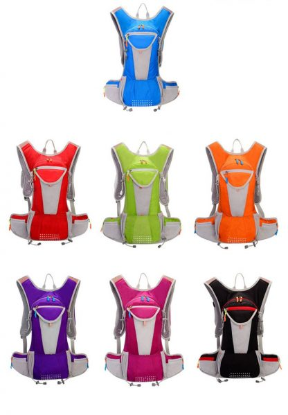 7 Color 15L Outdoor Bags Hiking Backpack Vest Marathon Running Cycling Backpack For 2L Water Bag Hiking Camping 1