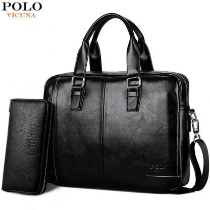 VICUNA POLO New Arrival High Quality Leather Man Messenger Bag With Front Pocket Brand Men's Briefcases Business Men Handbag
