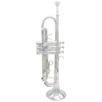 입문용 연습용SLADE Professional Trumpet Import Brass Silver Trumpet Digital Mechanical Welding Pipe Music Adopts Brass Musical Instruments 1