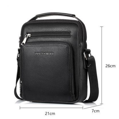 Casual Men Crossbody Bags Pu Leather Messenger Bag Designer Men Handbag Top Quality Male Shoulder Bags WBS502 5