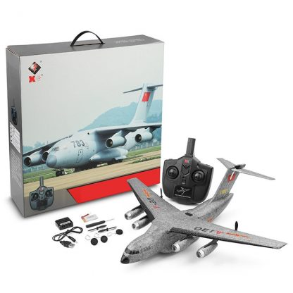 XK A130-Y20 RC Airplane 2.4G 3CH 500mm Wingspan EPP RTF Built-in Gyro Model Flying Outdoor Toys  Fixed Wing Aircraft