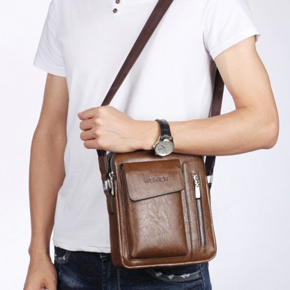 Vintage Messenger Bag Men Shoulder bags Pu Leather Crossbody Bags For Men Bags Retro Zipper Man Handbags WBS510 1