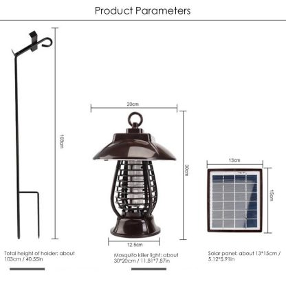 LAIDEYI Solar Powered LED Mosquito Killer Light Mosquito Repeller Lamp Insect Killing Hanging Lamp For Garden Yard Outdoor  5