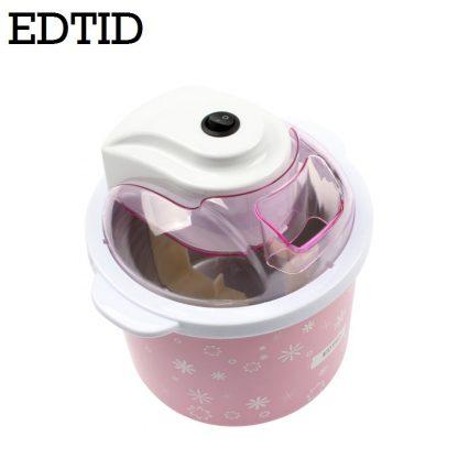 EDTID Electric Mini Ice Cream Machine 1.5L Household Automatic DIY Soft Frozen Fruit Dessert Icecream Maker Milkshake Freezer EU 3