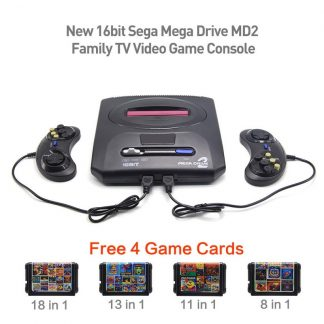 16bit Sega Mega Drive MD2 Family Free 4 Game Cards New TV Video Game Console Player Retro game PAL output