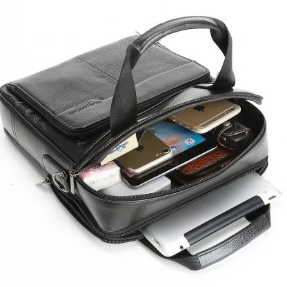 MEIGARDASS Genuine Leather Business Men Briefcase Men's Handbags Office Laptop Bag Male Casual Shoulder Computer Messenger Bags 5