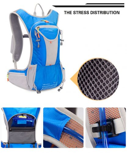 7 Color 15L Outdoor Bags Hiking Backpack Vest Marathon Running Cycling Backpack For 2L Water Bag Hiking Camping 5
