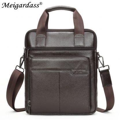 MEIGARDASS Genuine Leather Business Men Briefcase Men's Handbags Office Laptop Bag Male Casual Shoulder Computer Messenger Bags 2