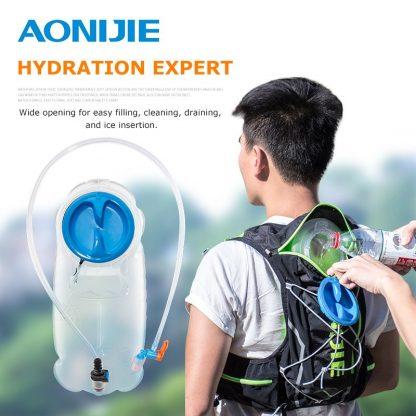 AONIJIE SD17 1.5L 2.5L Soft Reservoir Water Bladder Hydration Pack Water Storage Bag BPA Free Running Hydration Vest Backpack 3