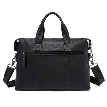 WESTAL Men Briefcases Genuine Leather Men's Bag Business Briefcases laptop Handbags Messenger Bag Men Leather Office Bag 9013 2