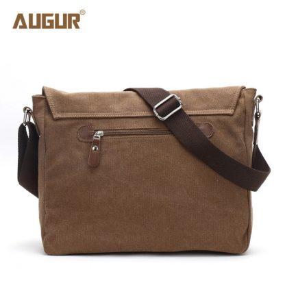 Augur 2018 Canvas Leather Crossbody Bag Men Military Army Vintage Messenger Bags Shoulder Bag Casual Travel school Bags  3