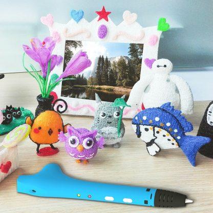 QCREATE 3D Pen QW01-14S 3D Drawing Pen with Free 10 Meters PCL 1.75mm Filament Low Temperautre Smart 3D Printing Pen Doodler DIY 5
