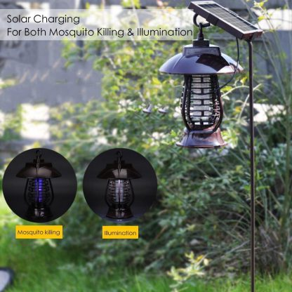 LAIDEYI Solar Powered LED Mosquito Killer Light Mosquito Repeller Lamp Insect Killing Hanging Lamp For Garden Yard Outdoor  1