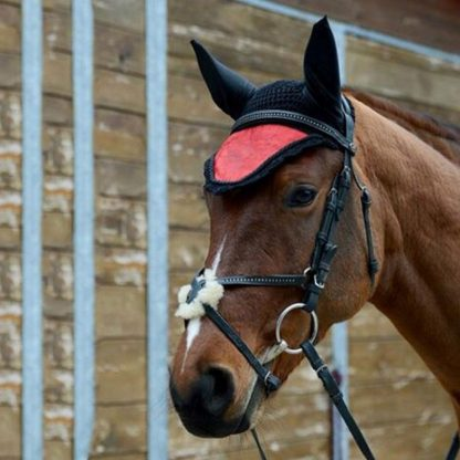 Horse riding breathable mesh horse earmuffs luminous equestrian competition horse equipment flying mask cap ear horse protection 1