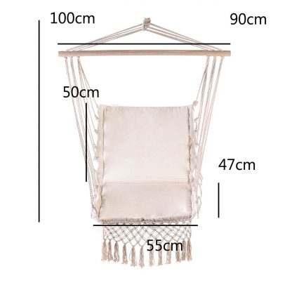 Nordic Style Hammock Outdoor Indoor Furniture Swing Hanging Chair for Children Adult Garden Dormitory Single Safety Chair 4