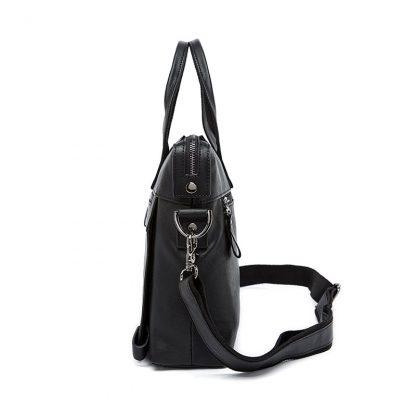 WESTAL Men Briefcases Genuine Leather Men's Bag Business Briefcases laptop Handbags Messenger Bag Men Leather Office Bag 9013 1