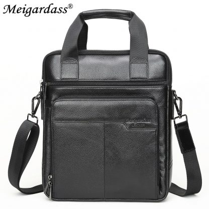 MEIGARDASS Genuine Leather Business Men Briefcase Men's Handbags Office Laptop Bag Male Casual Shoulder Computer Messenger Bags 1