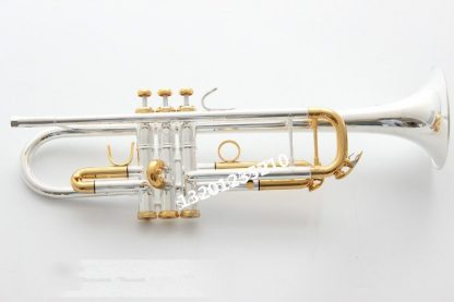 High-quality Bach Trumpet LT180S-72 silver-Plated  Professional Flat Bb Trumpet Bell Top Brass Musical Instruments free case  3