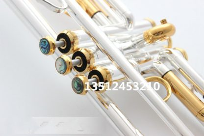quality Bach Trumpet Original Silver plated GOLD KEY LT180S-72 Flat Bb Professional Trumpet bell Top musical instruments Brass  1