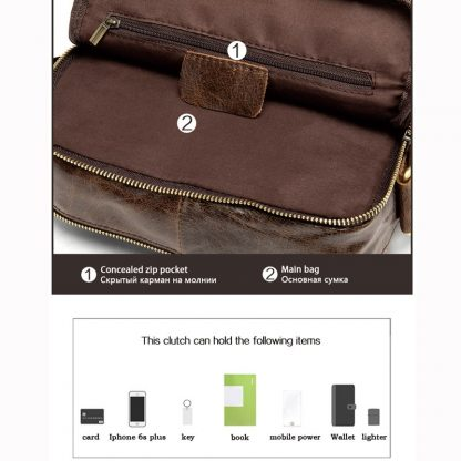 MVA Shoulder Bag for Men Men's Genuine Leather Bag Vintage Messenger Bags Men Leather Small Crossbody Bags for ipad handbag 1121 3