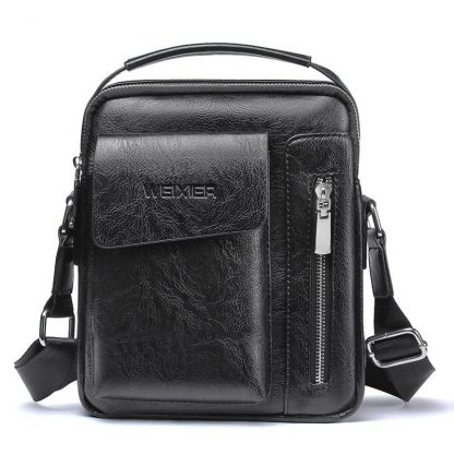 Vintage Messenger Bag Men Shoulder bags Pu Leather Crossbody Bags For Men Bags Retro Zipper Man Handbags WBS510 4