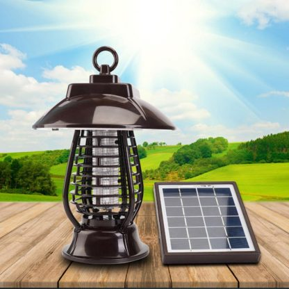 LAIDEYI Solar Powered LED Mosquito Killer Light Mosquito Repeller Lamp Insect Killing Hanging Lamp For Garden Yard Outdoor  3