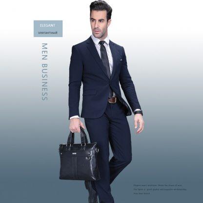 VORMOR 2019 Men Casual Briefcase Business Shoulder Bag Leather Messenger Bags Computer Laptop Handbag Bag Men's Travel Bags 2