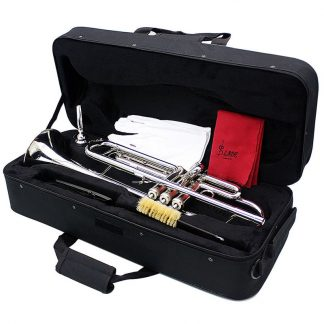 입문용 연습용SLADE Professional Trumpet Import Brass Silver Trumpet Digital Mechanical Welding Pipe Music Adopts Brass Musical Instruments