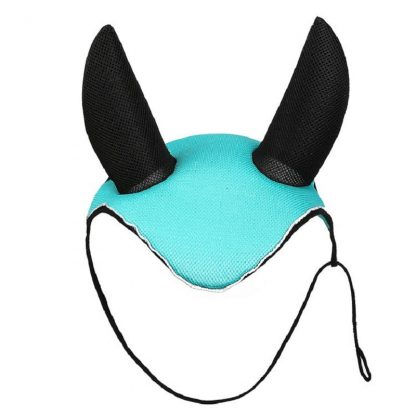 Horse riding breathable mesh horse earmuffs luminous equestrian competition horse equipment flying mask cap ear horse protection 5