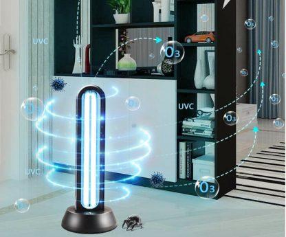 38W UV disinfection quartz lamp sterilizer portable mite remote control ozone sterilization home ultraviolet lamp  1