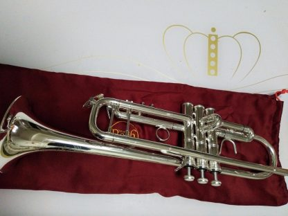 Bach AB-190S Brand Quality Bb Trumpet Brass Tube Silver Plated Professional Musical Instruments With Case Mouthpiece Accessories 2
