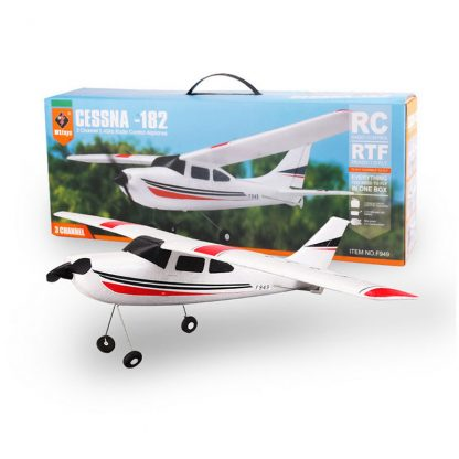 Wltoys F949 CESSNA-182 3 Channel 2.4G Control Airplane RC Airplane EPP Model Plane RTF 3 Coreless Motor Outdoor Drone Kids FSWB 3
