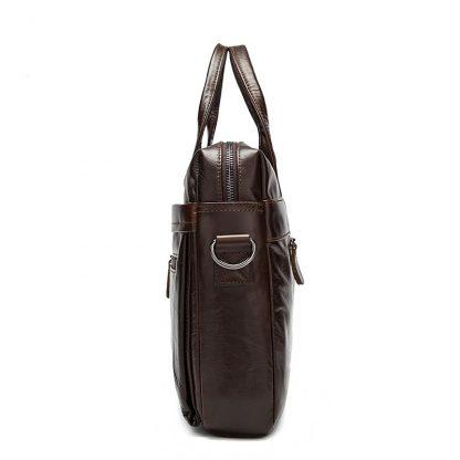 MVA Leather Briefcases men laptop male messenger bag Men's Genuine leather shoulder bags briefcase for documents  handbag 9005 2