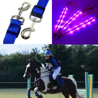 LED Horse Harness Breastplate Nylon Webbing Night Visible Horse Riding Equipment Paardensport Racing Cheval Equitation 5