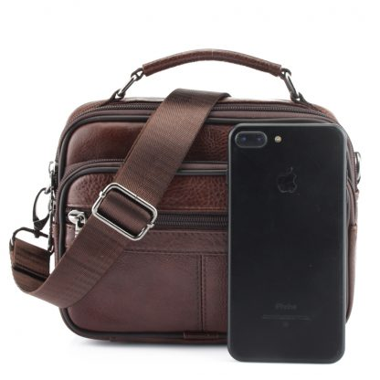 ZZNICK 2018 Genuine Cowhide Leather Shoulder Bag Small Messenger Bags Men Travel Crossbody Bag Handbags New Fashion Men Bag Flap 5