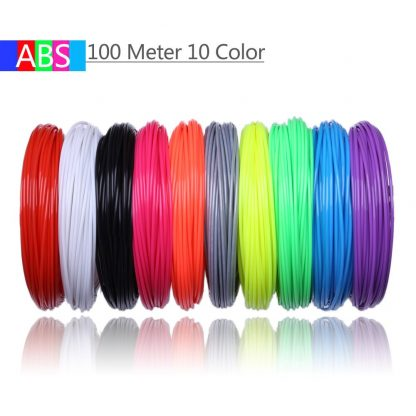 Use For 3D Printing Pen 200 Meters 20 Colors 1.75MM ABS Filament Threads Plastic 3 d Printer Materials For Kid Drawing Toys 1