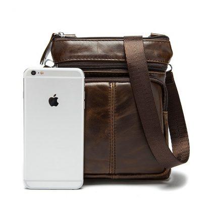 WESTAL Messenger Bag Men's Shoulder Genuine Leather bags Flap Small male man Crossbody bags for men natural Leather bag M701 5