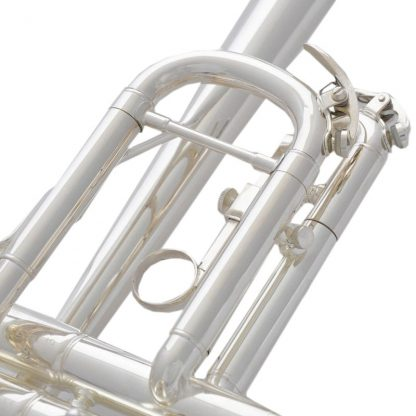 Top New Silver Plated  C Key Trumpet with Cupronickel Tuning pipe horn With Case 3