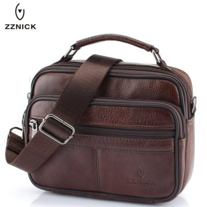 ZZNICK 2018 Genuine Cowhide Leather Shoulder Bag Small Messenger Bags Men Travel Crossbody Bag Handbags New Fashion Men Bag Flap 3