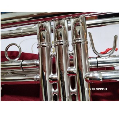 Bach AB-190S Brand Quality Bb Trumpet Brass Tube Silver Plated Professional Musical Instruments With Case Mouthpiece Accessories 4