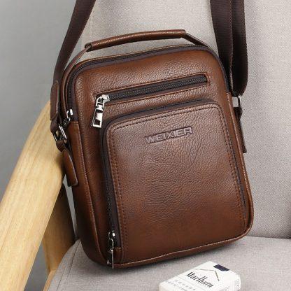 Casual Men Crossbody Bags Pu Leather Messenger Bag Designer Men Handbag Top Quality Male Shoulder Bags WBS502 4