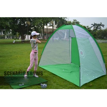 Foldable Outdoor Indoor Golf Net Cage Golf Hitting Net Pop Up Driving Chipping Practice Net Training Aid 4