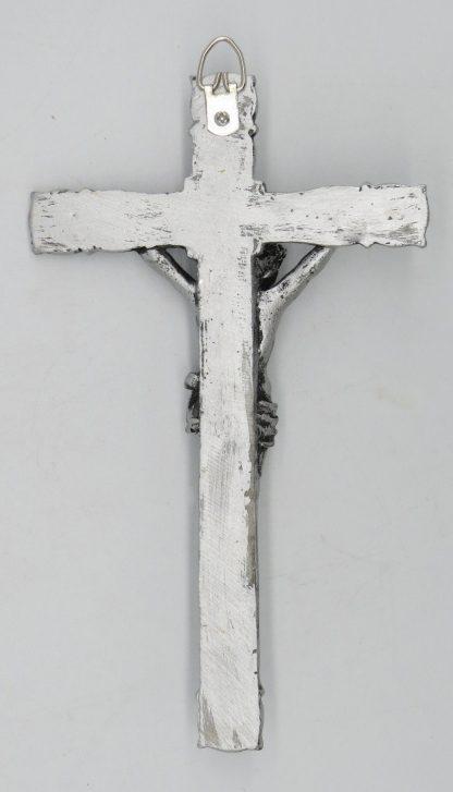 Catholic 8.5 Inch Resin Jesus Christ on INRI Cross Wall Crucifix Antique Finish Gold Silve Home Chapel Decoration Free shipment 3