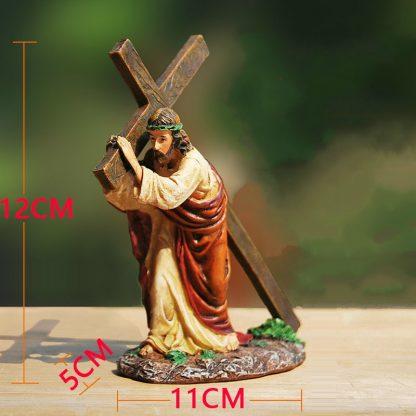 Resin Cross Crucifix Jesus Statue Figurine Christian Automobiles Decoration Furnishing Accessories Gift 1
