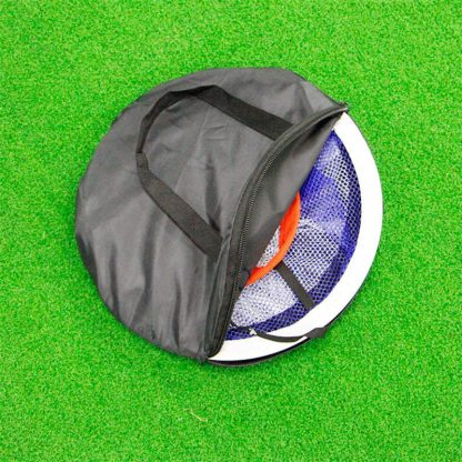 PGM Golf Pop UP Indoor Outdoor Chipping Pitching Cages Mats Practice Easy Net Golf Training Aids Metal + Net  4