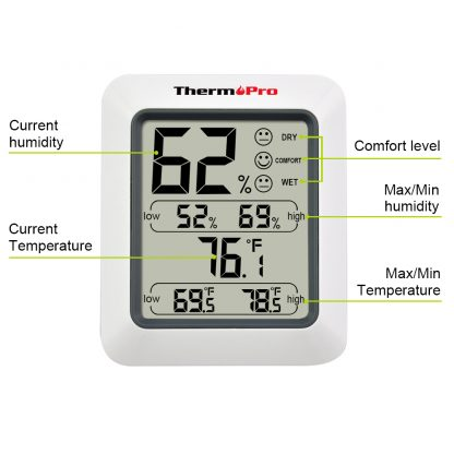 Thermopro TP50 High Accuracy Digital Hygrometer Thermometer Indoor Electronic Temperature Humidity Hygrometer Weather Station 4