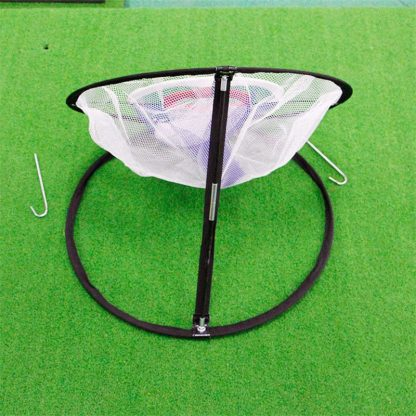 PGM Golf Pop UP Indoor Outdoor Chipping Pitching Cages Mats Practice Easy Net Golf Training Aids Metal + Net  2