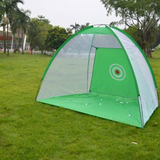 2x1.4m Foldable Golf Hitting Cage Practice Net Trainer+raining Aid Mat+Driver Iron Green Portable Durable Polyester+Oxford Cloth
